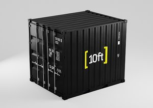 10 shipping container - 3D