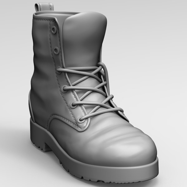 3D model old boots