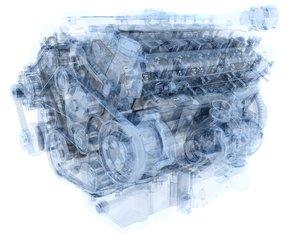 v12 engine ignition 3D model