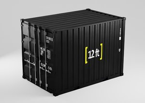 3D 12 shipping container - model
