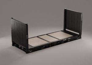 20 flat rack - 3D model