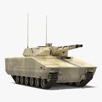 3D ifv lynx kf41 desert model