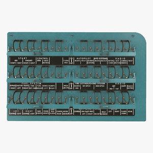 right circuit breaker console 3D model