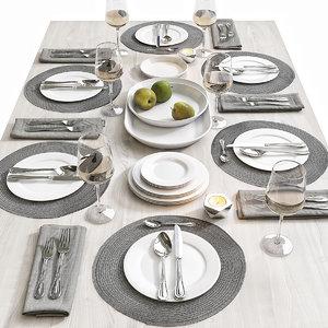 3D table set 6
