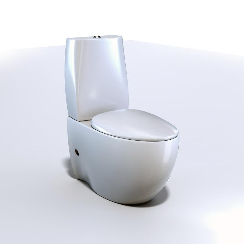 toilet design modern 3D