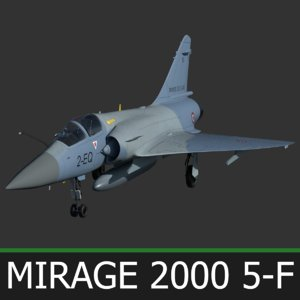 3D model french fighter mirage 2000