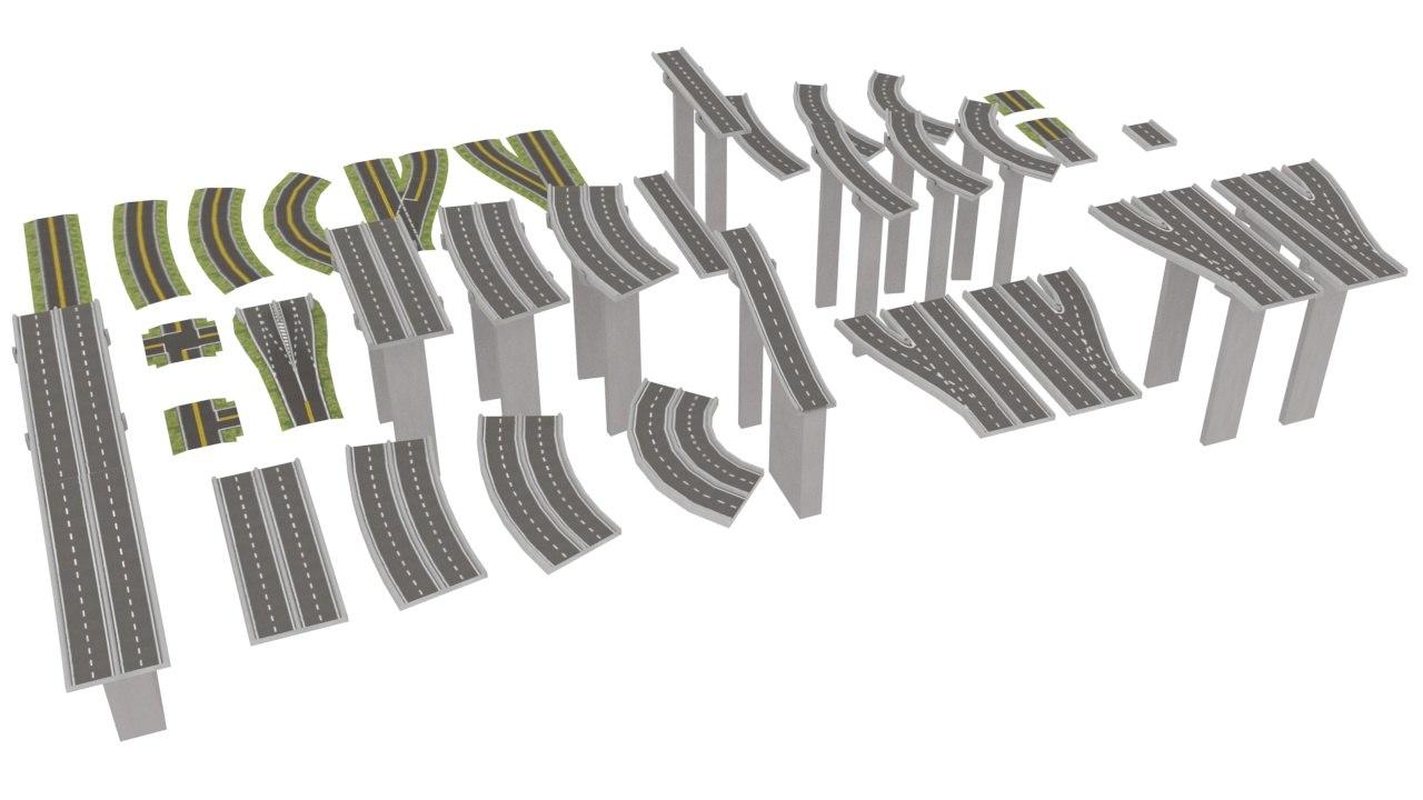 highway road 3D model