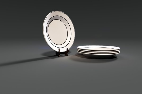 3D dishes display plate model