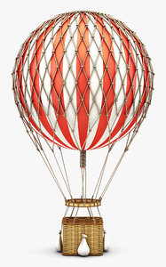 3D hot air balloon v model