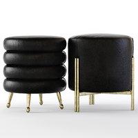 3D model melange stool laurel