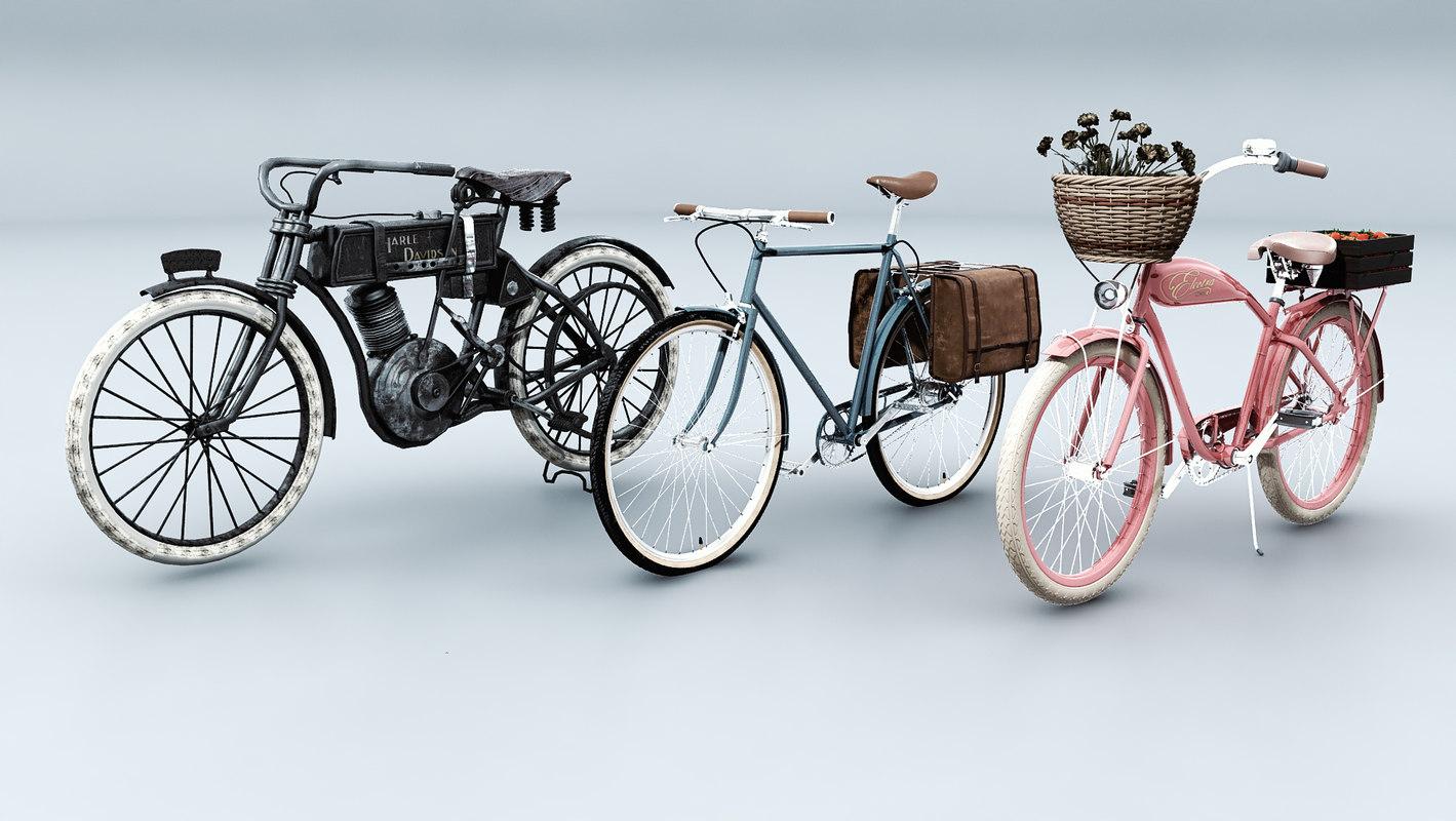bike vintage 3D model