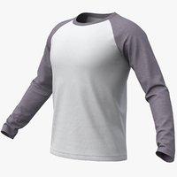 Raglan T-Shirt Long Sleeve(Gray) + PBR