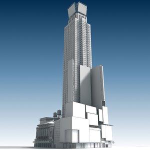 w square building 3D model