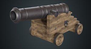 3D model vessel cannon 1a