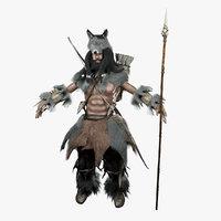 3D warrior spear