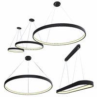 3D ring hanging chandelier model