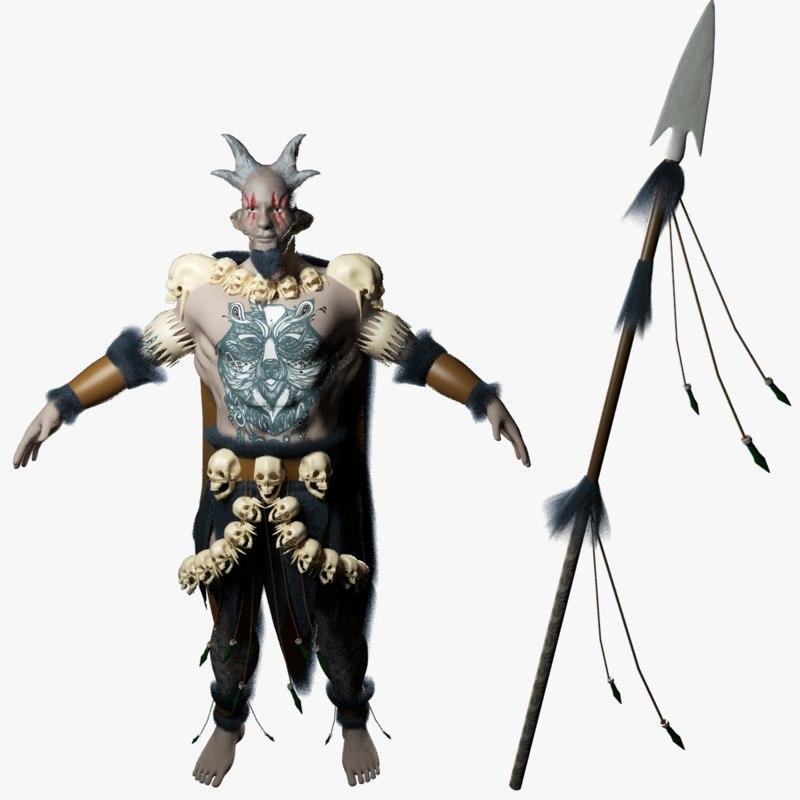 warrior forest gaming model