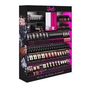 sleek makeup retail display 3D model
