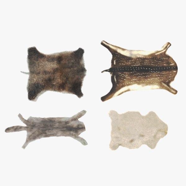animal skins fur 3D model