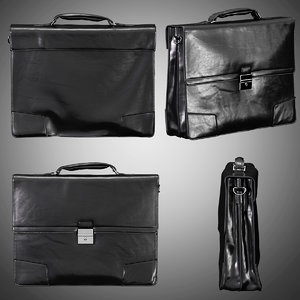mens leather briefcase 3D