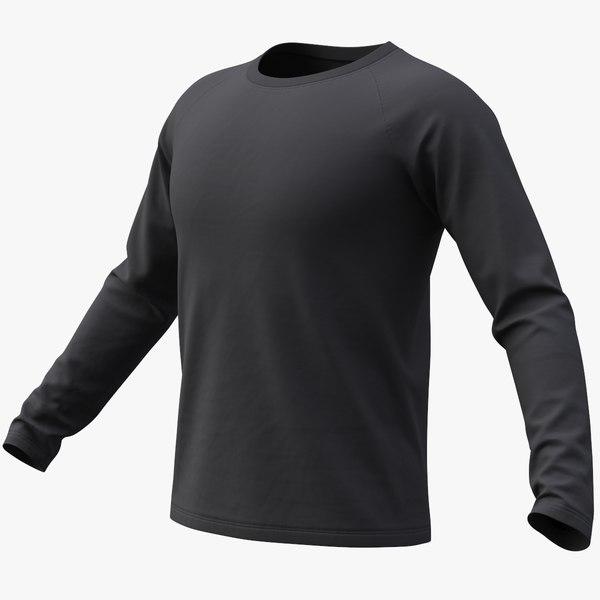3D realistic raglan t-shirt long