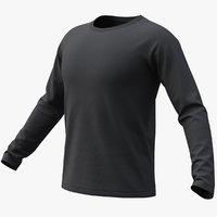 Raglan T-Shirt Long Sleeve(Black) + PBR