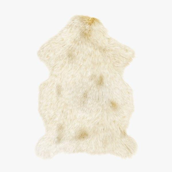 3D sheep skin fur