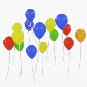 animations color balloon 3D