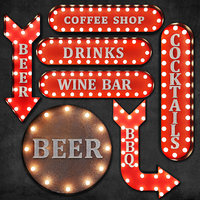 Lighted Metal sign 1