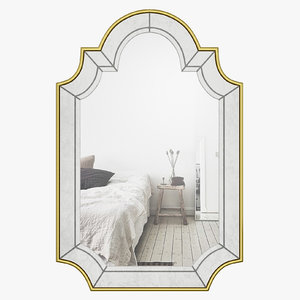 3D wlao1079 wall mirror champagne