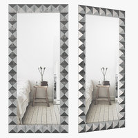 3D mirrored glass wall