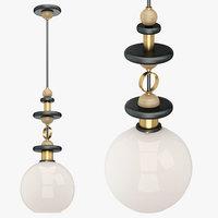 lamp art deco 07 3D model