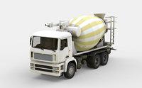 3D truck concrete mixer