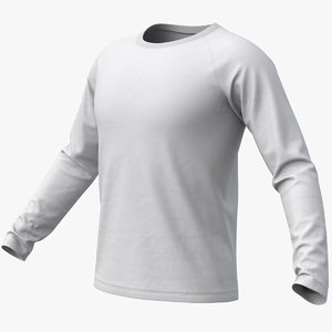 realistic raglan t-shirt long model