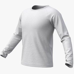 realistic raglan t-shirt long model
