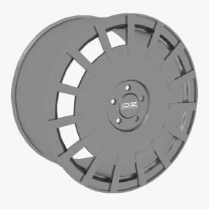 oz rally racing wheel 3D model