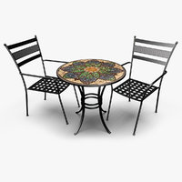 3D patio set