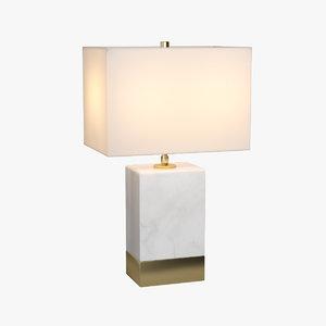 3D lucent 2 light table lamp model