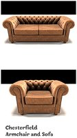 chesterfield armchair sofa 3D