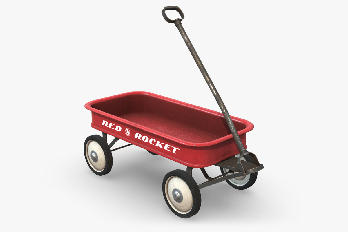 toy cart 3D model