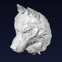 Wolf Head Sculpture