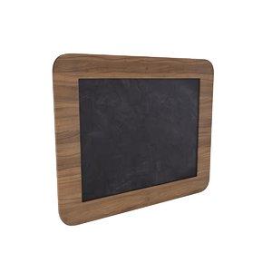 3D model chalkboard office