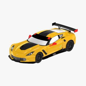 low-polygonal chevrolet corvette c7 3D model