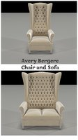 avery bergere sofa chair 3D model