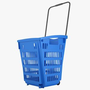 plastic roll shopping 3D