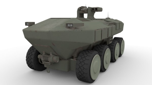 3D armored vehicle