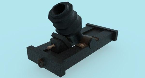 howitzer cannon 3D model