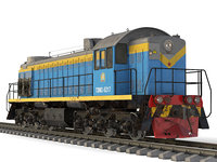 3D soviet diesel locomotive tem-2 model