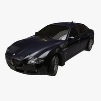 3D maserati quattroporte 2010 car model
