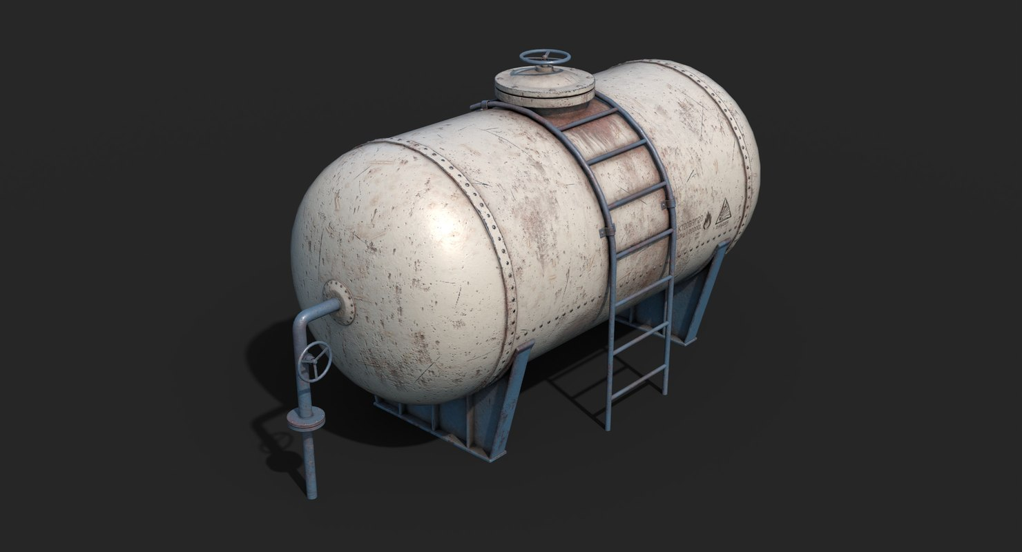 tank container white 3D model